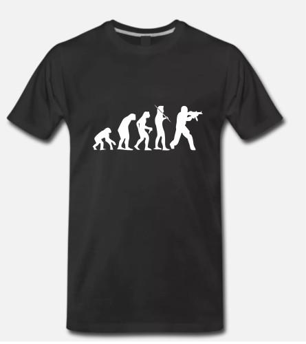 Marškinėliai Counter-Strike human evolution