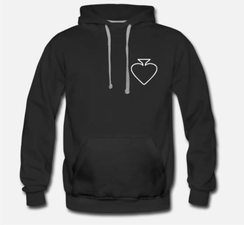 Džemperis su gobtuvu Pokerio širdis