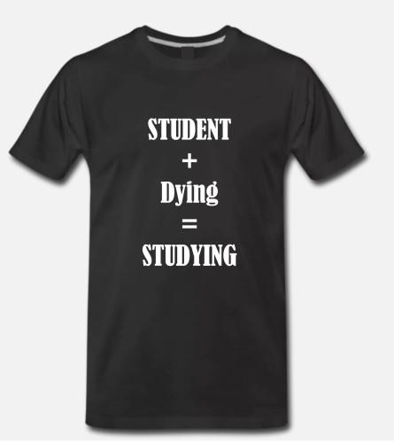 Marškinėliai Studying